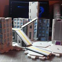 Small Mech City: City Play Set 3D Printing 113227