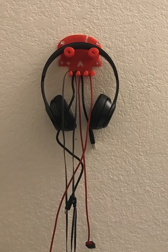 Skull headphone/cables hanger 3D Print 113243