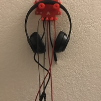 Small Skull headphone/cables hanger 3D Printing 113243