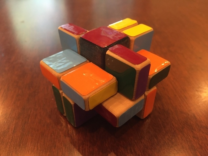 Cornerless Split Domino Puzzle 3D Print 113341
