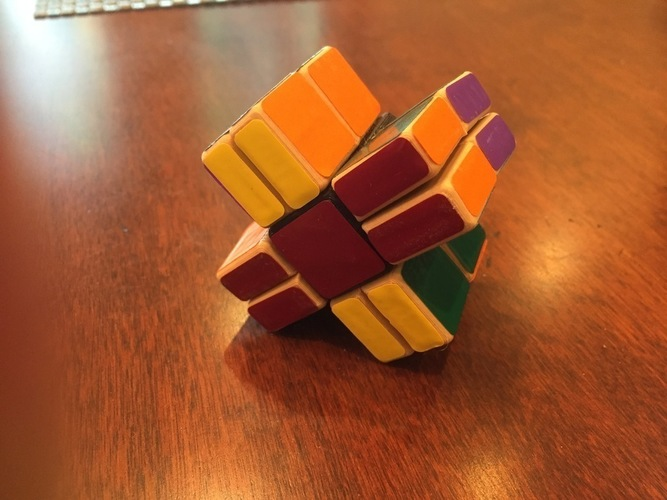 Cornerless Split Domino Puzzle 3D Print 113346