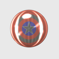 Small Captain America Shield 3D Printing 113369