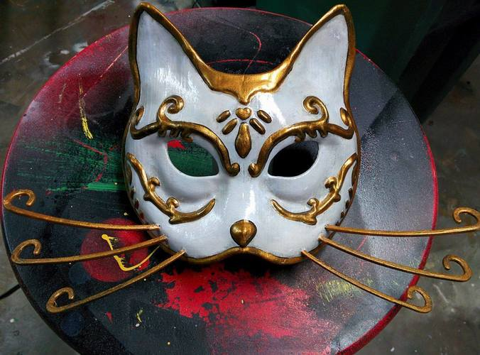 Splicer Cat Mask (Bioshock) 3D Print 113375