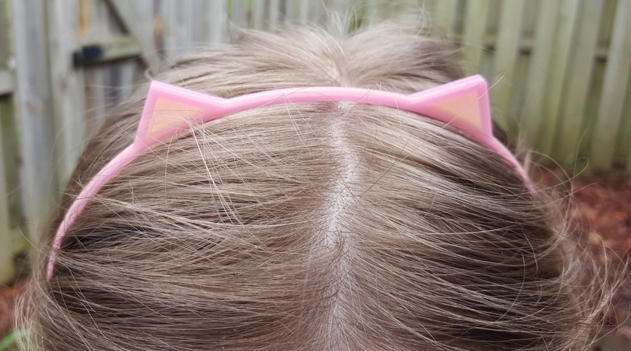Cat Ears Hair Band 3D Print 113460