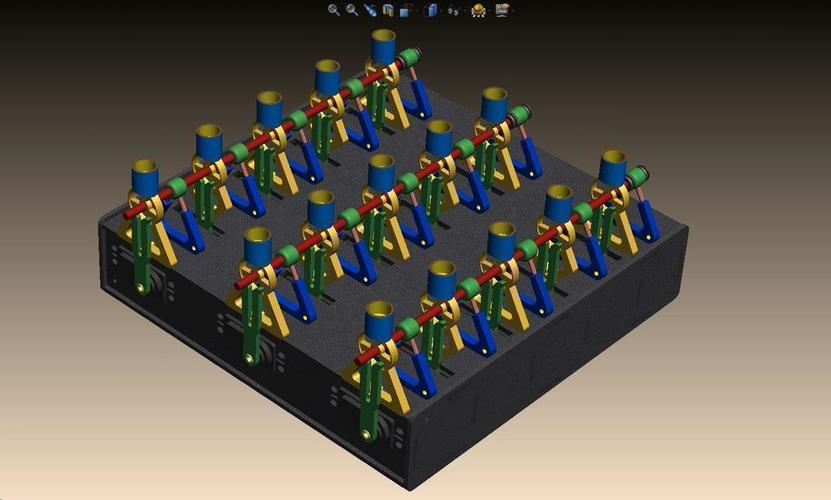 15-Channel Array RoboMusicBox ...  3D Print 113584