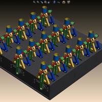 Small 15-Channel Array RoboMusicBox ...  3D Printing 113584
