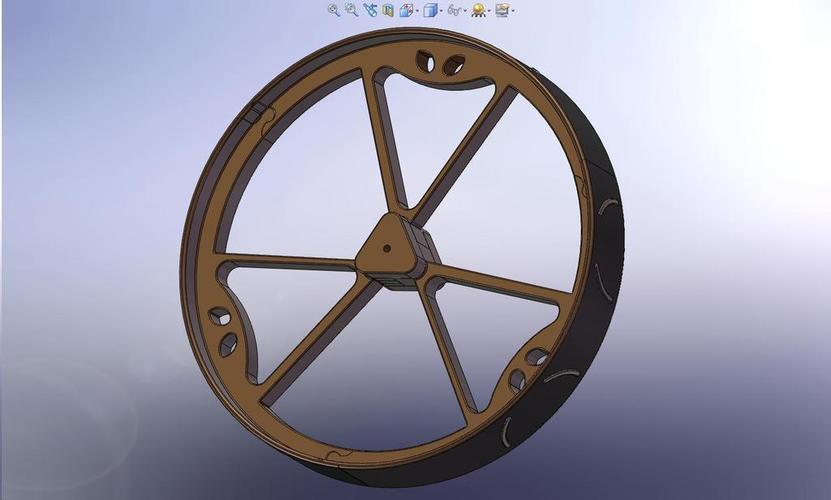 180mm Diameter MegaBoeBot Wheel Kit 3D Print 113604
