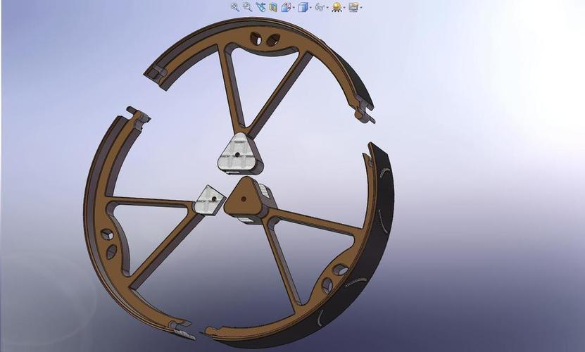 180mm Diameter MegaBoeBot Wheel Kit 3D Print 113608