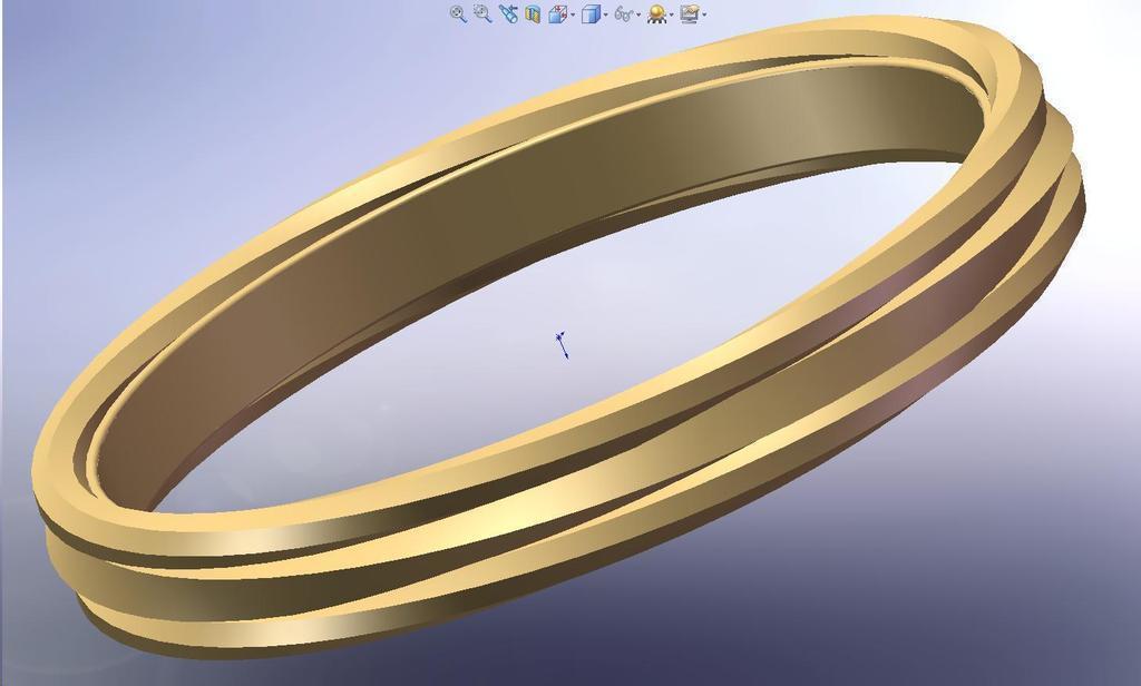3d Printed Multi Banded Bracelet By Wperko Pinshape