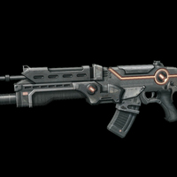 Small Futuristic Assault Rifle 3D Printing 113743