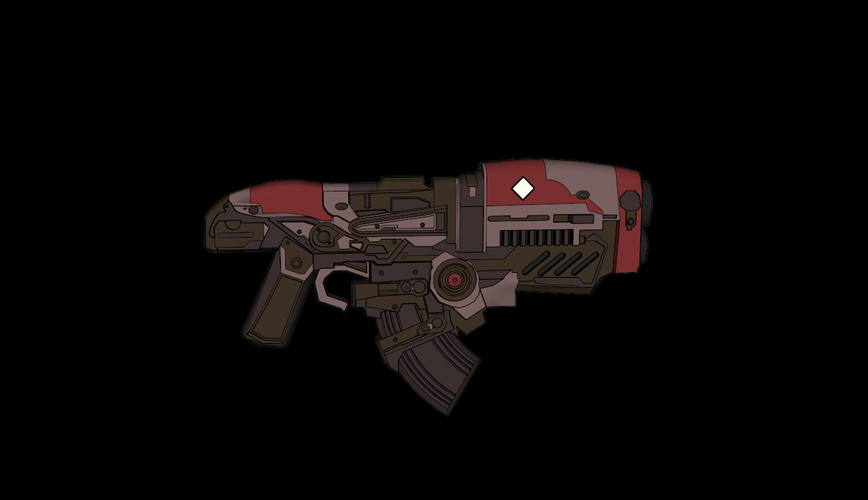 Gears of War - Hammerburst Rifle 3D Print 113806