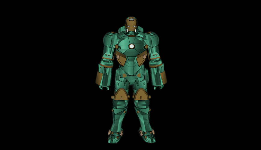 ​Iron Man Mark 37 - Hammerhead​ 3D Print 113815