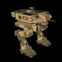 Small L-5 Riesig Battle Walker - Battlefield 2142 3D Printing 113824