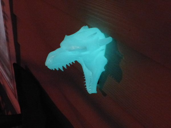 Medium Dragon Head Doorbell Cover (GLOW IN THE DARK VERSION) 3D Printing 113864