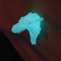 Small Dragon Head Doorbell Cover (GLOW IN THE DARK VERSION) 3D Printing 113864