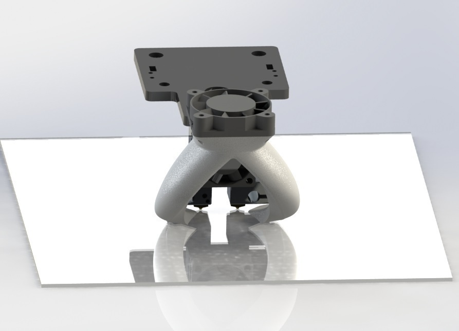3D Printed Fang (fan) Duct for Tevo Tarantula Dual Extruder Stock by