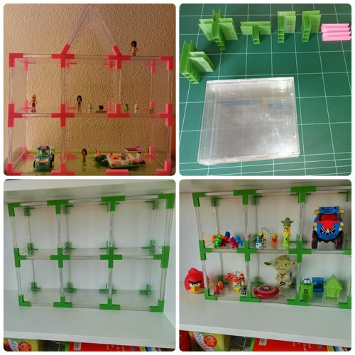 Doll's House // Toy Shelves with Recycled CD Cases. 3D Print 114005