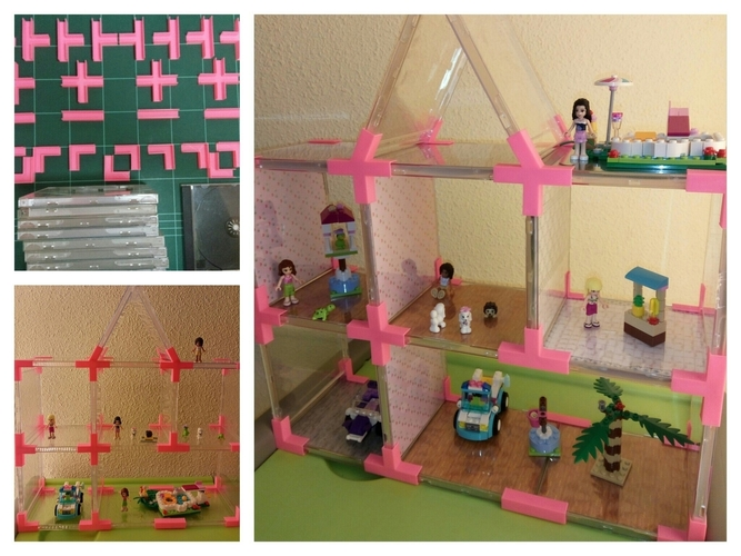 Doll's House // Toy Shelves with Recycled CD Cases. 3D Print 114006