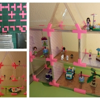 Small Doll's House // Toy Shelves with Recycled CD Cases. 3D Printing 114006