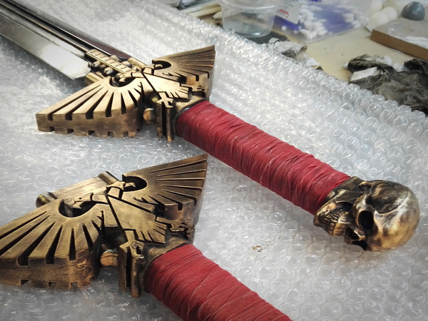 Medium Warhammer 40K - Inquisitor Sword 3D Printing 114012