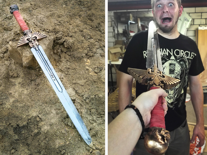 Warhammer 40K - Inquisitor Sword 3D Printing 114014