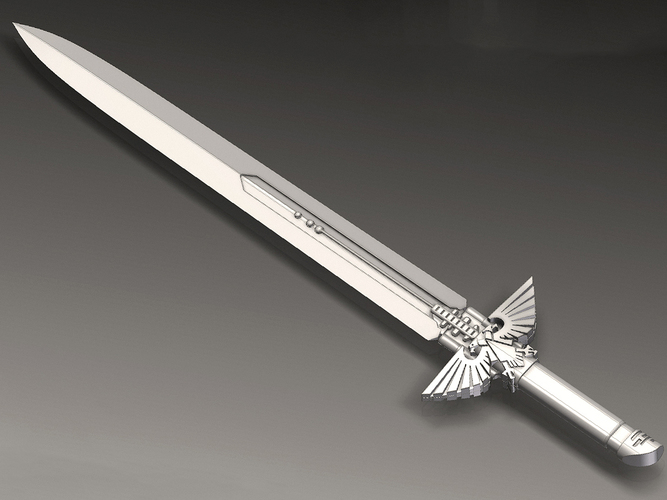 Warhammer 40K - Inquisitor Sword 3D Printing 114015