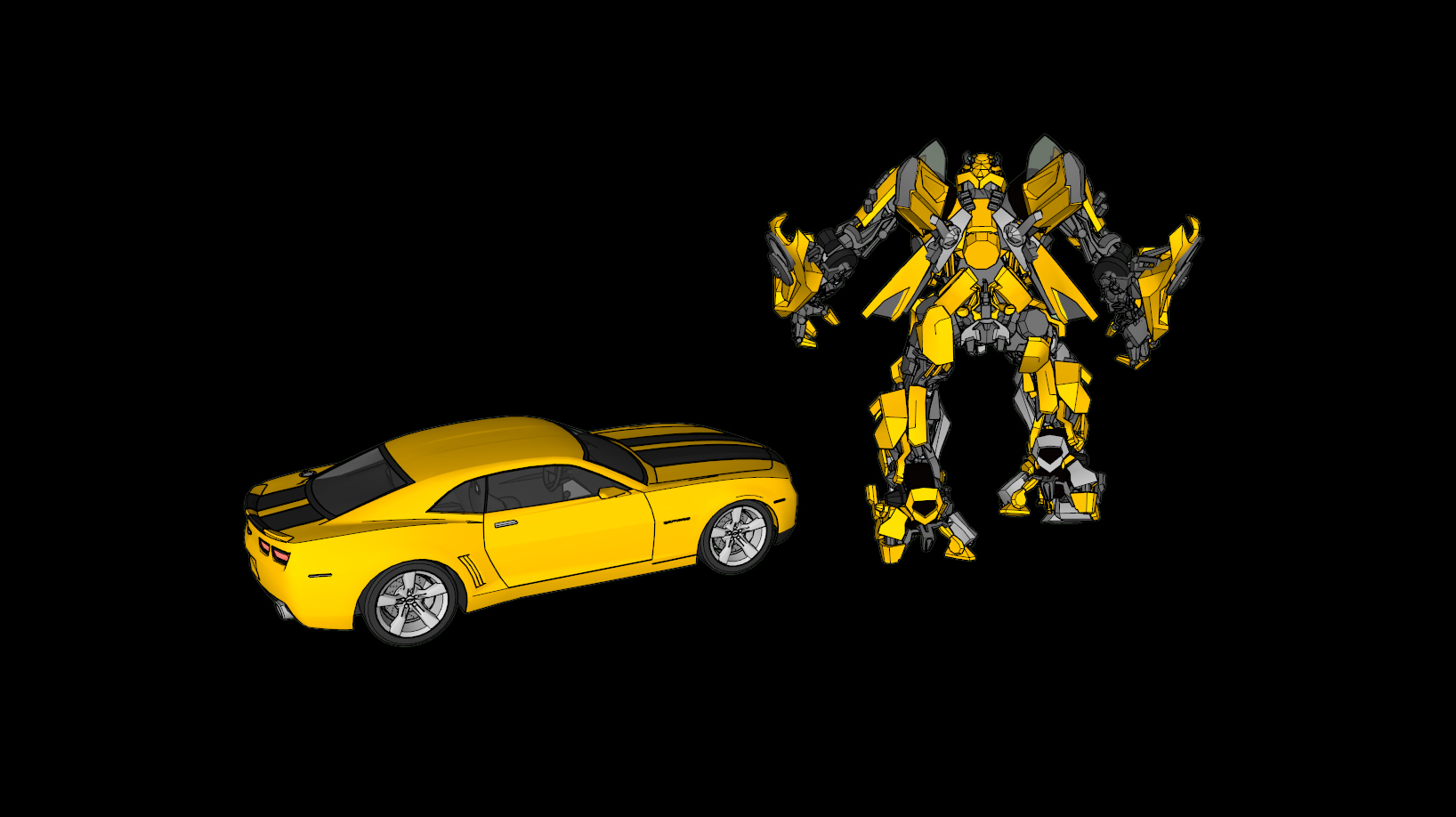 3d printed bumblebee u0026 camero transformers by gnarly 3d kustoms