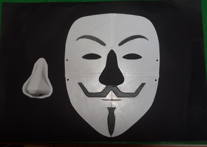 Simple Guy Fawkes Mask 3D Print 114066