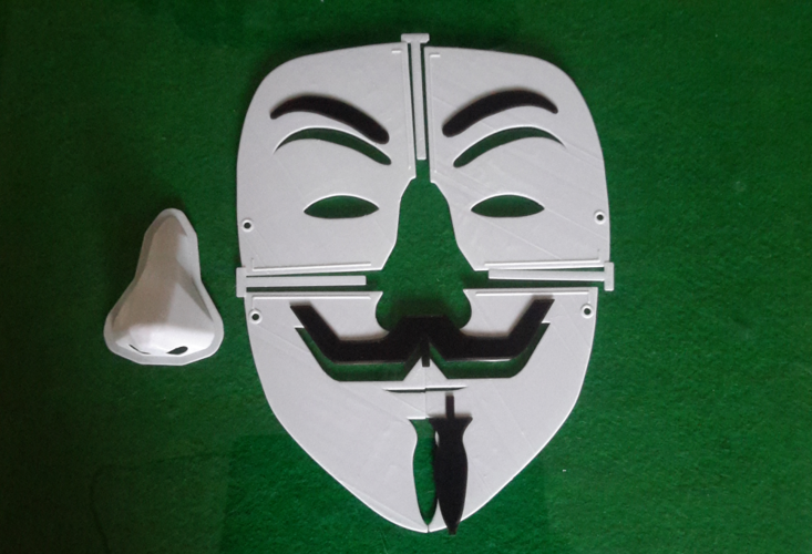 Simple Guy Fawkes Mask 3D Print 114067