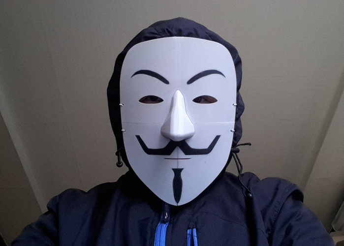 Simple Guy Fawkes Mask 3D Print 114068