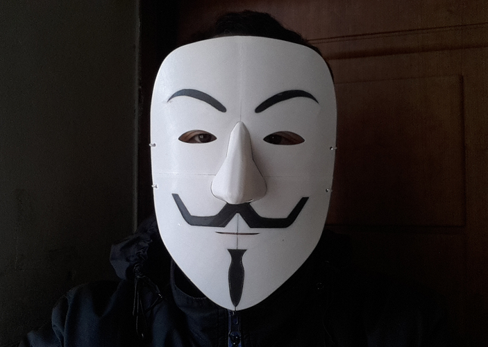 Simple Guy Fawkes Mask 3D Print 114069