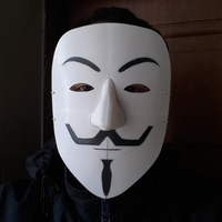 Small Simple Guy Fawkes Mask 3D Printing 114069