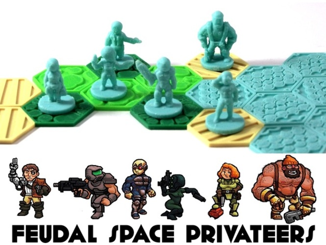 Pocket-Tactics Feudal Space Privateers 3D Print 1142