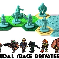 Small Pocket-Tactics Feudal Space Privateers 3D Printing 1142