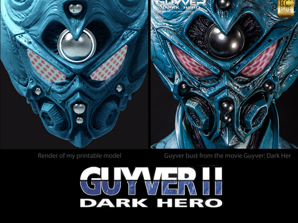 Medium Guyver - Dark hero Helmet  3D Printing 114374