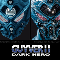 Small Guyver - Dark hero Helmet  3D Printing 114374