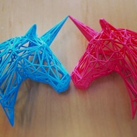 Small Wire Unicorn Statue (3 Inches) 3D Printing 11440