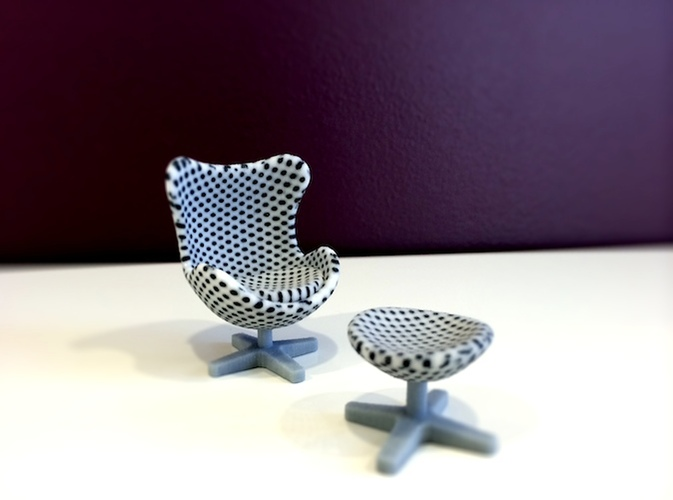 Polka Dot Egg Chair 3D Print 11445