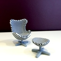 Small Polka Dot Egg Chair 3D Printing 11445