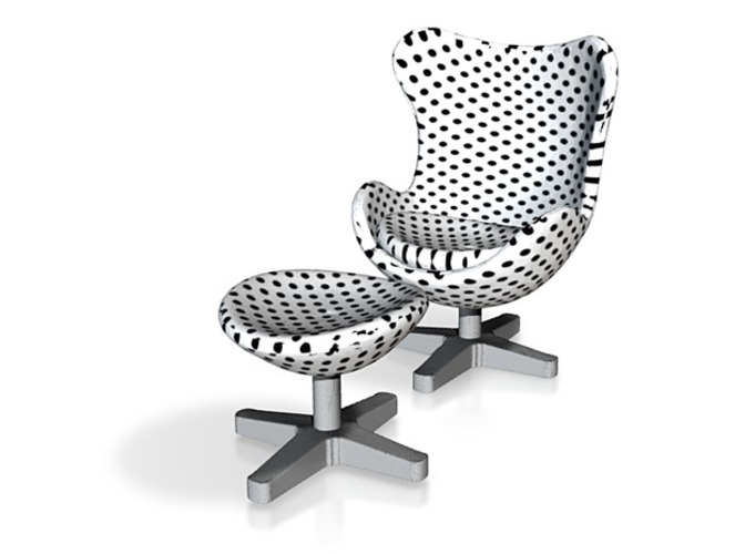 Polka Dot Egg Chair 3D Print 11446