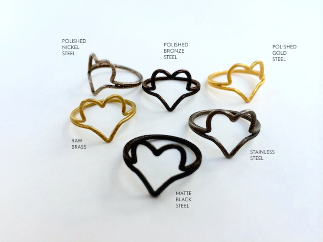Wire Heart Ring (Size 7) 3D Print 11448