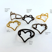 Small Wire Heart Ring (Size 7) 3D Printing 11448