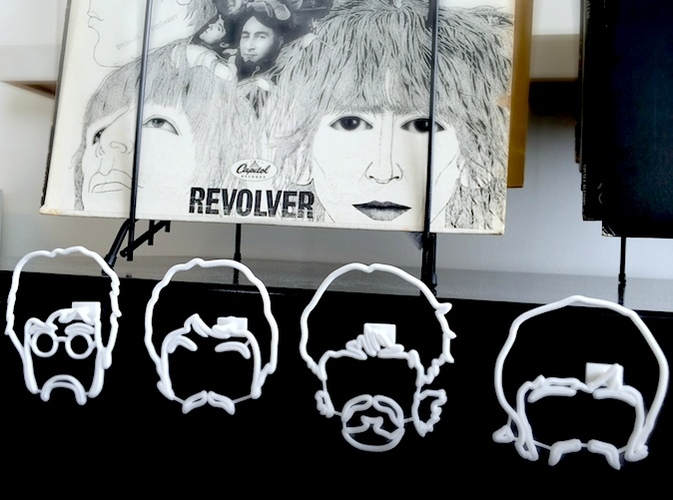 The Beatles Wire Wall Art 3D Print 11451