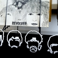 Small The Beatles Wire Wall Art 3D Printing 11451