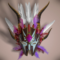 Small Diablo III Witchdoctor Mask 3D Printing 114517