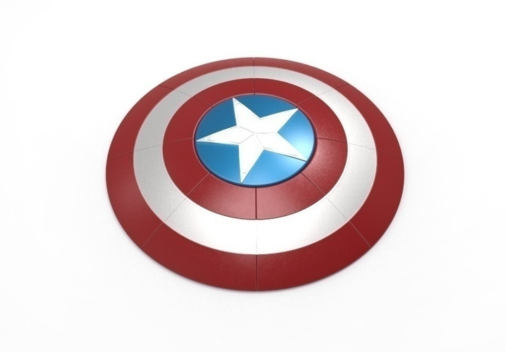 picture regarding Captain America Printable named Captain The usa Safeguard - 40 cm, 3D printable