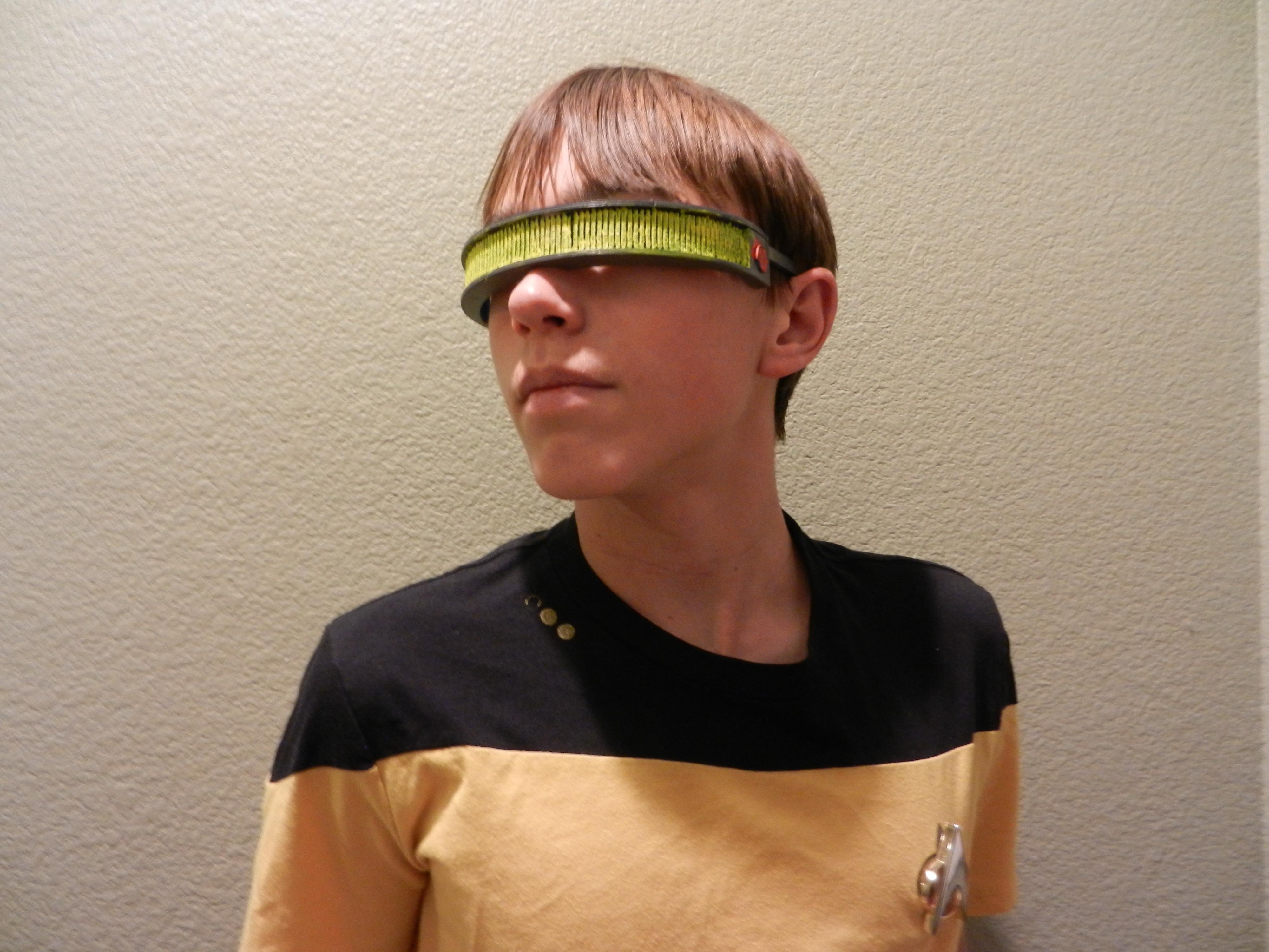 3d printed geordi la forge visor star trek the next generation by frankie r pinshape