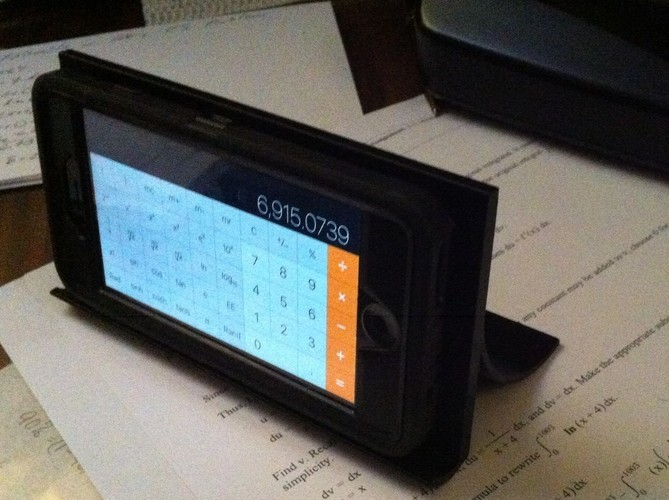 iPhone-calc-stand   3D Print 114855