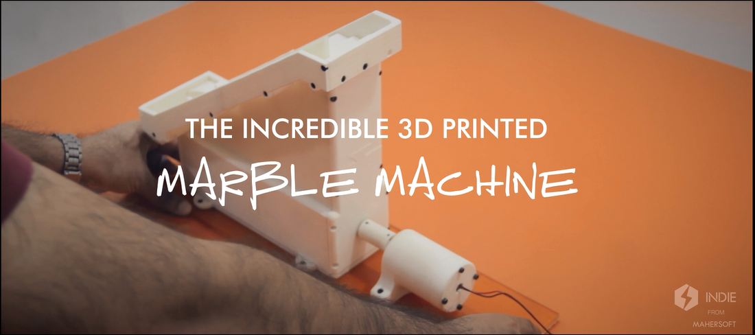 The 3D Printed Marble Machine by Maher Soft  3D Print 114905