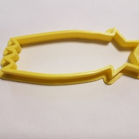Small Comet cookie cutter 3D Printing 114910